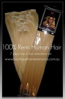 Clip in Hair Extensions 100% Human Hair- 20